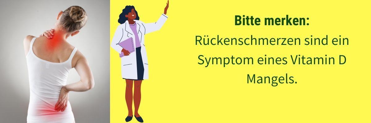 Vitamin D Mangel Symptom Rückenschmerz