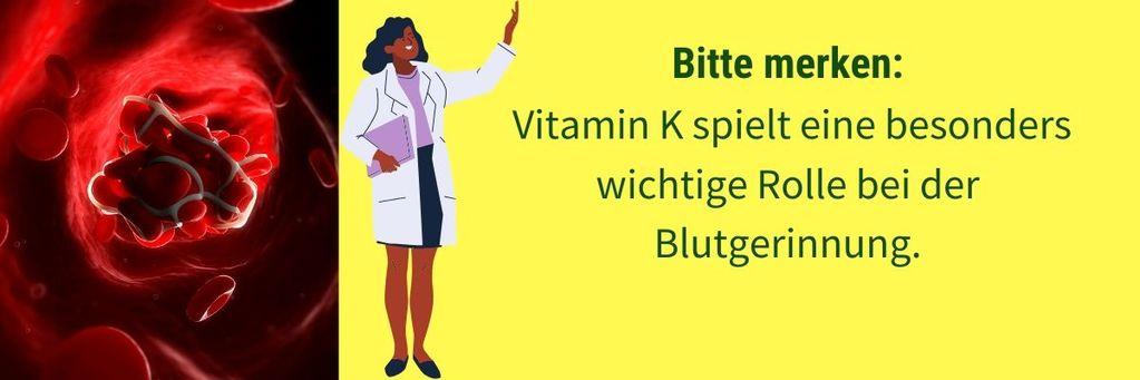 Vitamin K wicht fuer Blutgerinnung