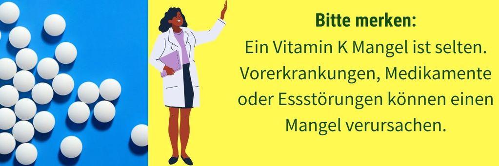 Vitamin K Mangel selten