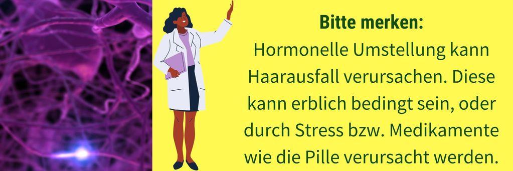 Haarausfall durch Hormonumstellung