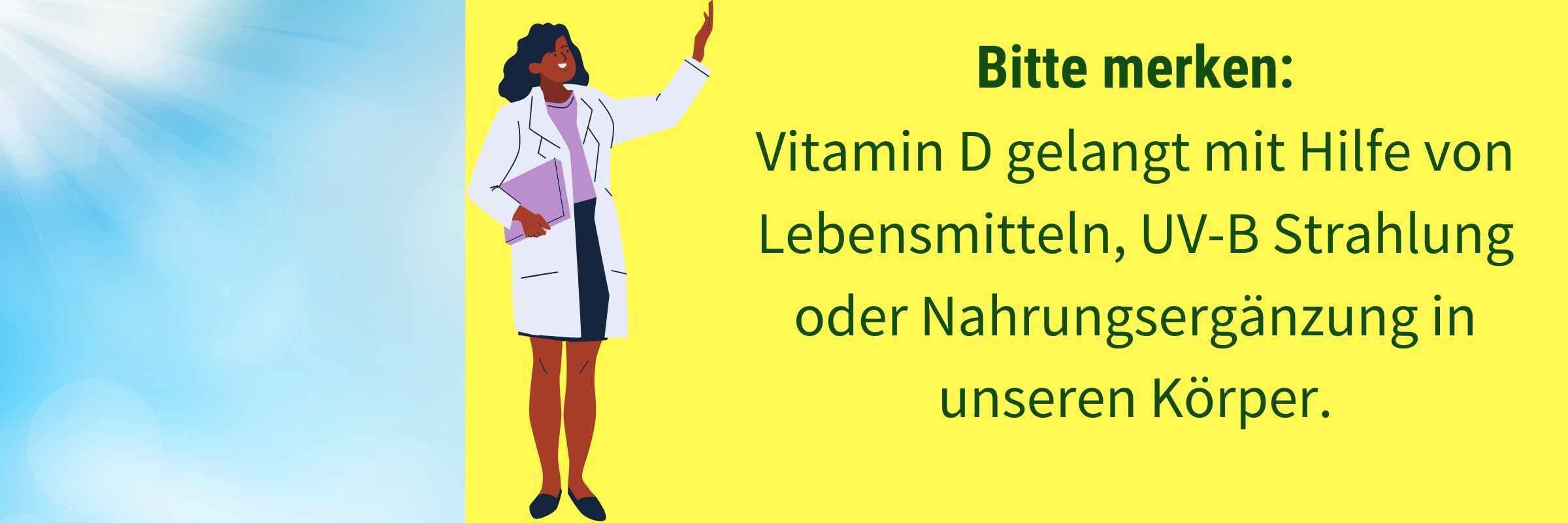 Vitamin D durch Lebensmittel UVB oder Nahrungsergaenzung
