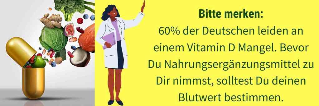 Vitamin D Blutwert testen