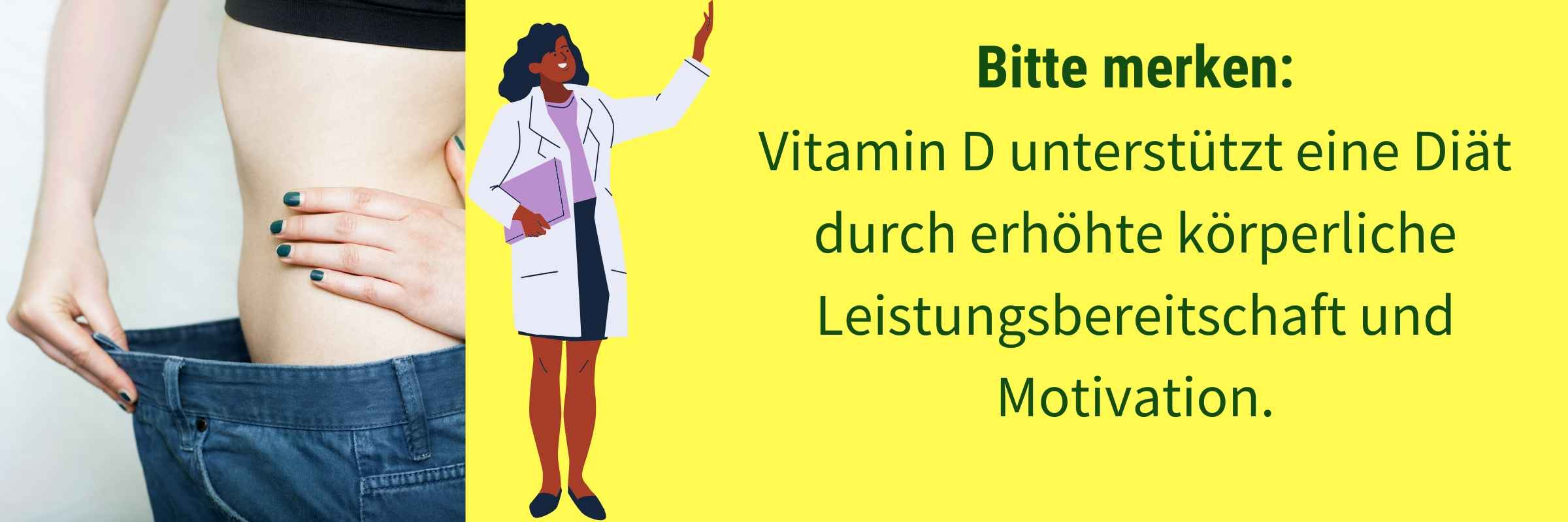 Vitamin D unterstützt Diaet