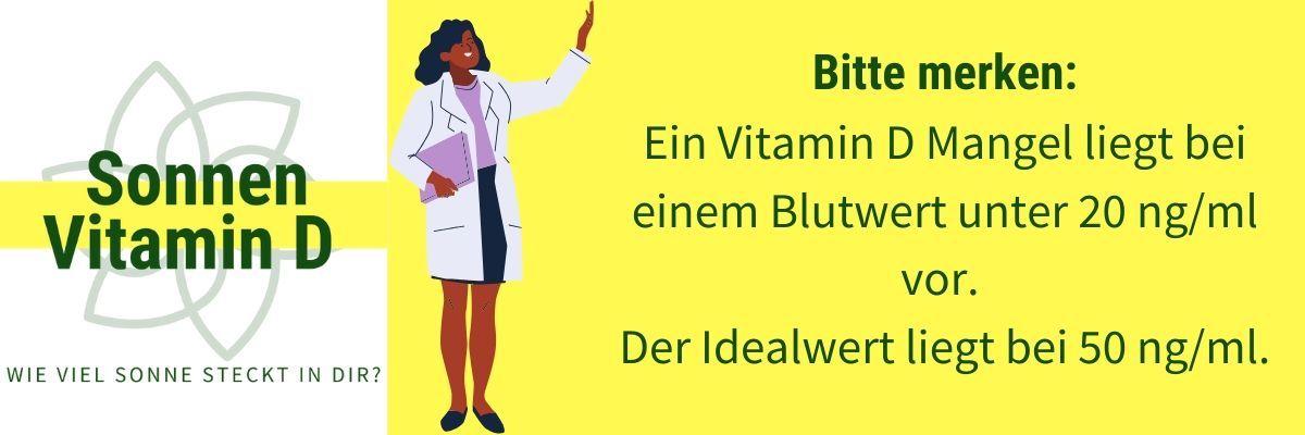 Vitamin D Mangel Werte
