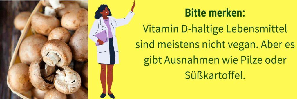 Vegane Vitamin D Lebensmittel