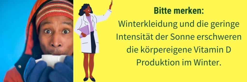 Vitamin D Mangel Winter Kleidung Sonne