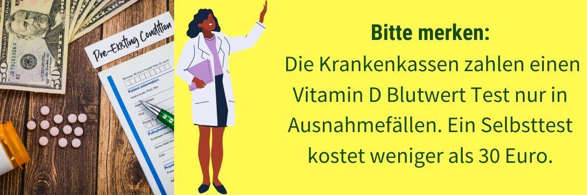 Vitamin D Selbsttest Kosten