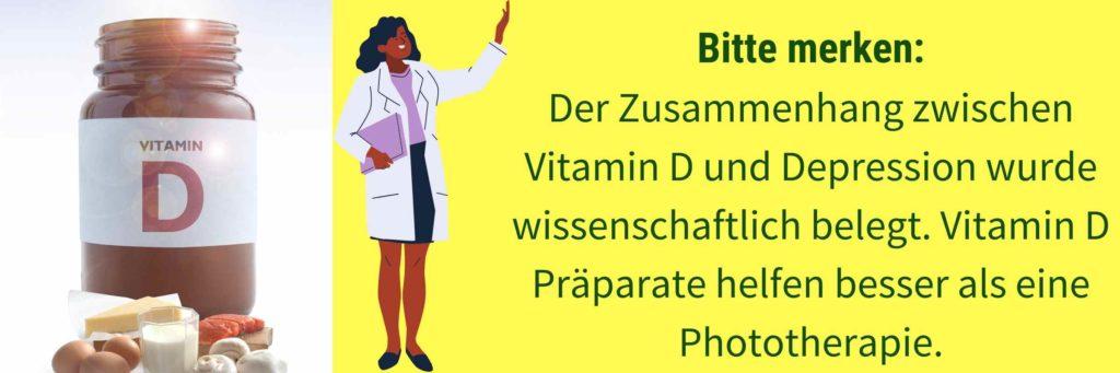 Zusammenhang Vitamin D Depression
