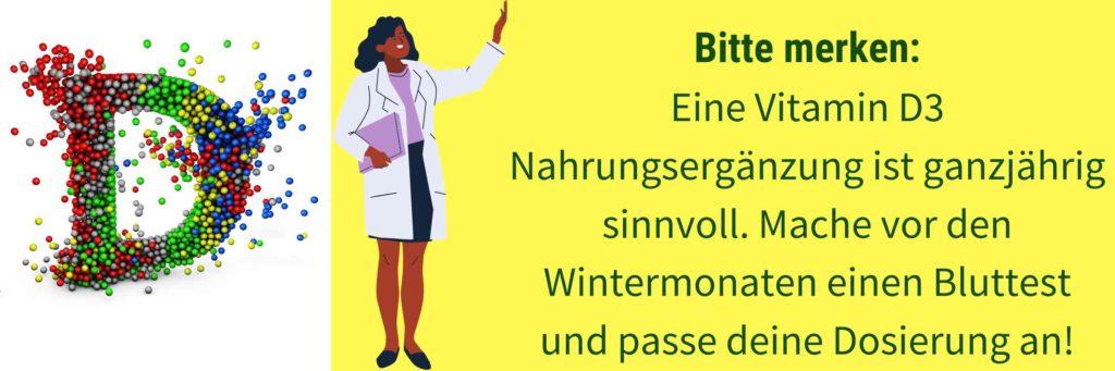 Vitamin D Mangel Winter Nahrungsergaenzung