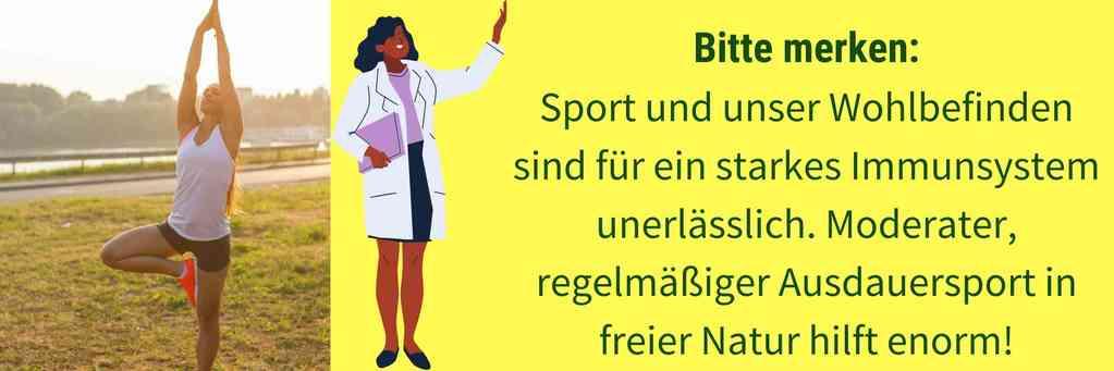 Sport und Wohlbefinden Immunsystem