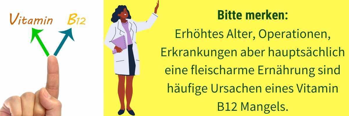 Vitamin B12 Mangel Ursachen