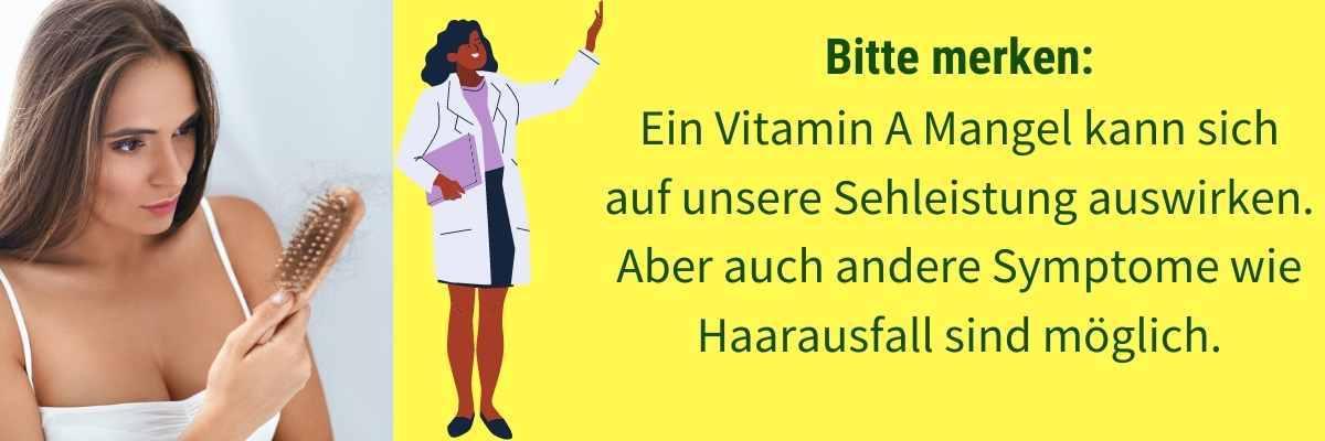Vitamin A Mangel Symptome