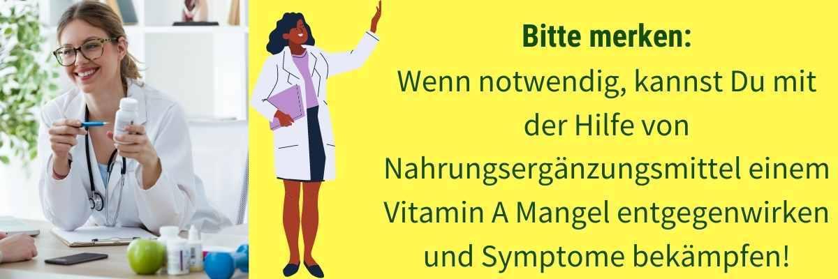 Vitamin A Nahrungsergänzung