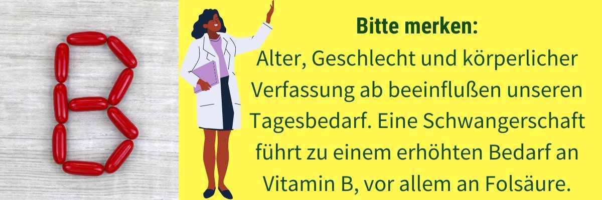 Vitamin B Tagesbedarf