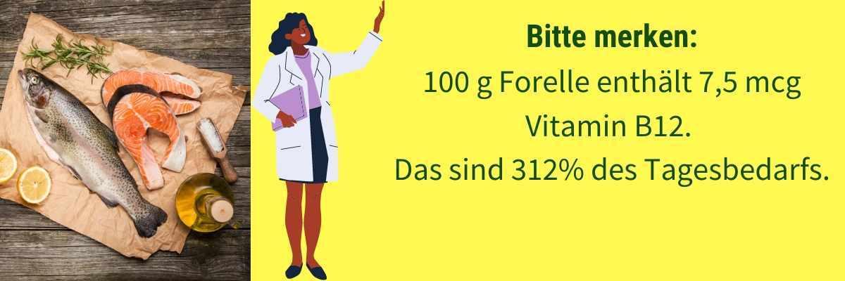 Vitamin B12 Lebensmittel Forelle