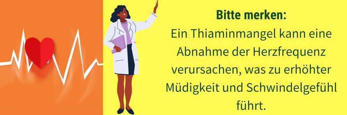 Vitamin B1 Mangel Symptom niedrige Herzfrequenz