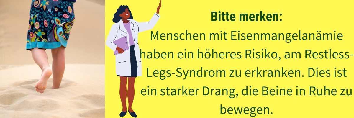Eisenmangel Symptom Beine