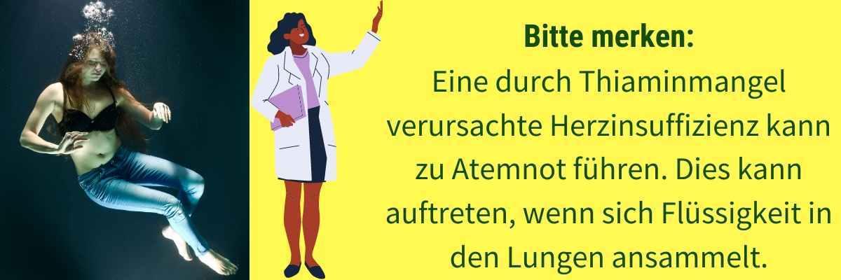 Vitamin B1 Mangel Symptom Kurzatmigkeit