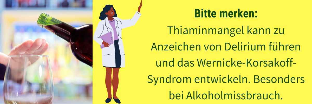 Vitamin B1 Mangel Symptom Delirium