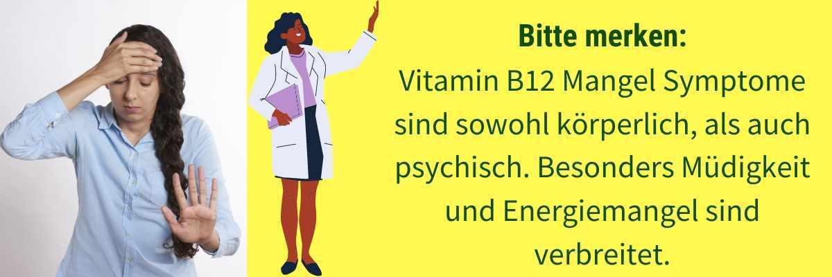 Vitamin B12 Mangel Symptome