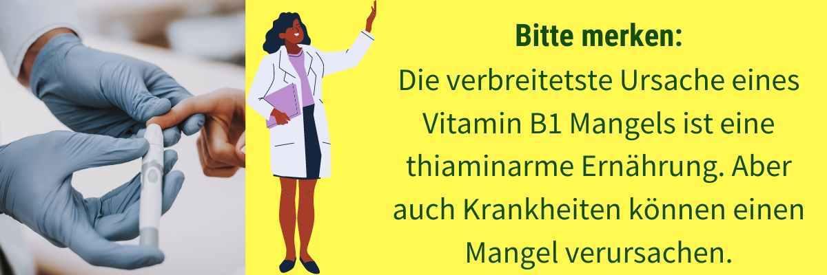Vitamin B1 Mangel Ursache