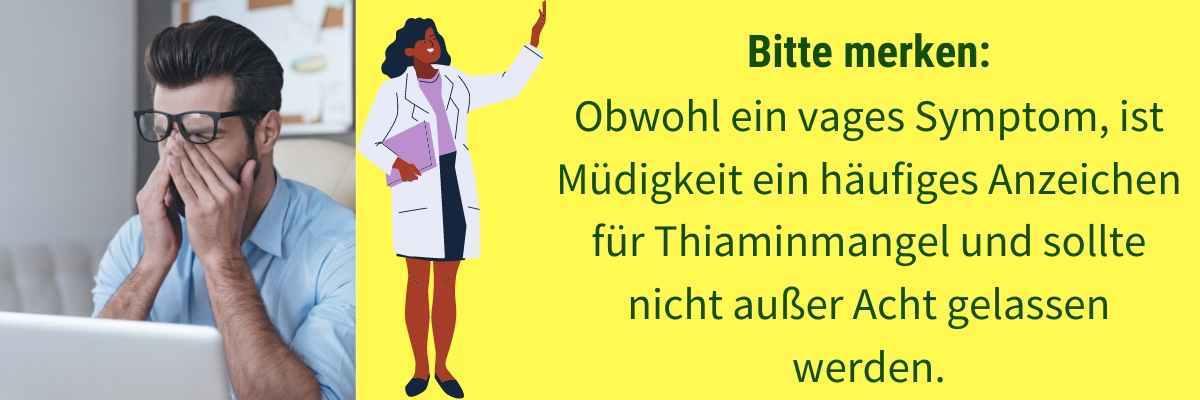 Vitamin B1 Mangel Symptom Müdigkeit