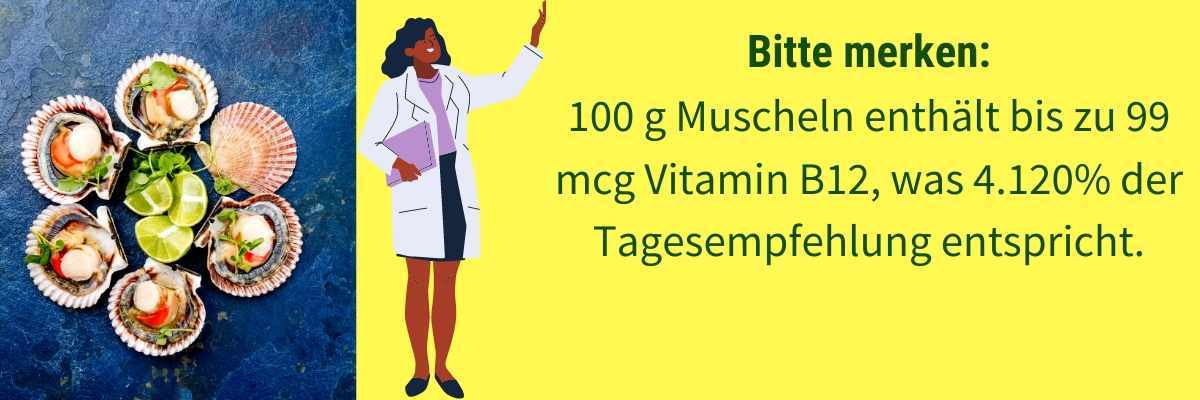 Vitamin B12 Lebensmittel Muschel