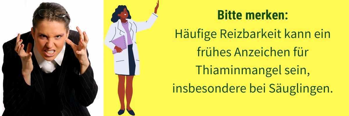 Vitamin B1 Mangel Symptom Reizbarkeit