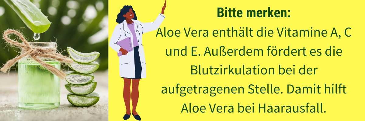 Aloe Vera gegen Haarausfall