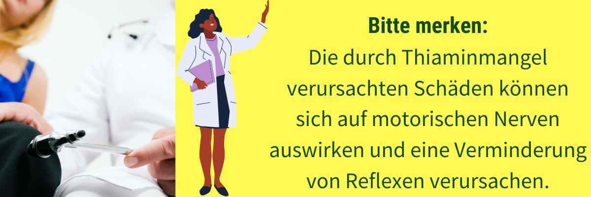 Vitamin B1 Mangel Symptom schlechte Reflexe