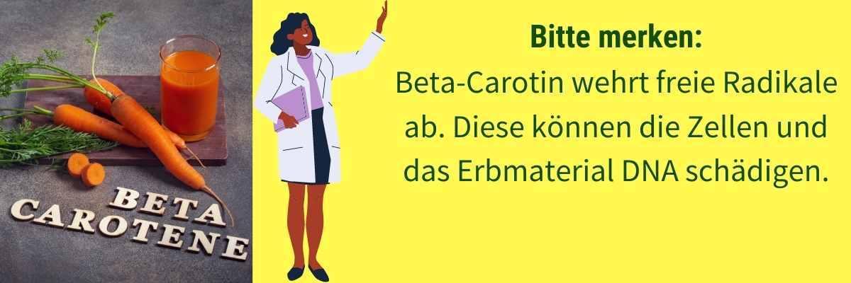 Wirkung Beta-Carotin