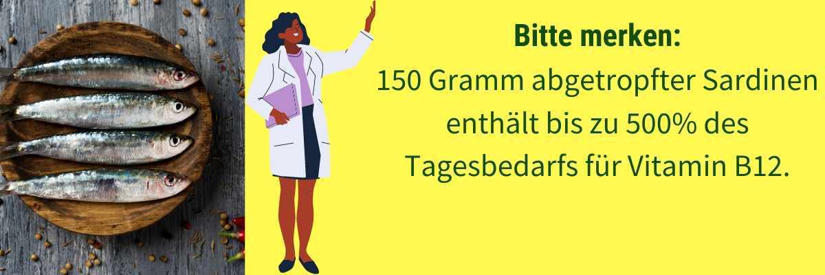 Vitamin B12 Lebensmittel Sardellen