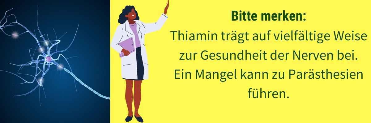 Vitamin B1 Mangel Symptom Kribbeln