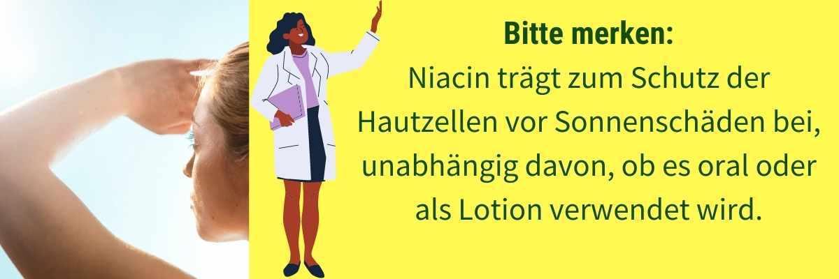 Niacin Wirkung Haut