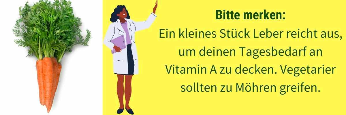 Vitamin A Tagesbedarf decken