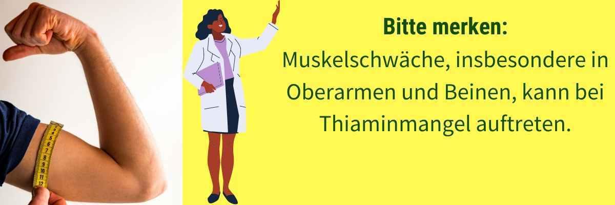 Vitamin B1 Mangel Symptom Muschelschwaeche
