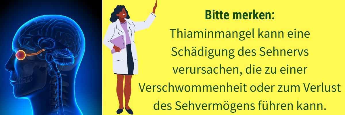 Vitamin B1 Mangel Symptom schlechte Augen