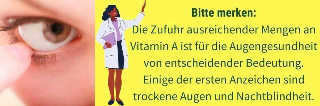 Vitamin A Mangel trockene Augen