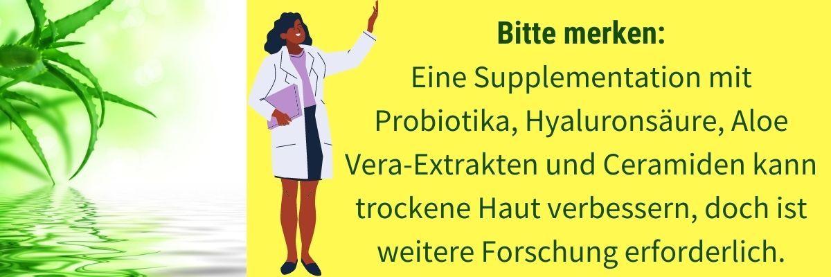Trockene Haut Probiotika