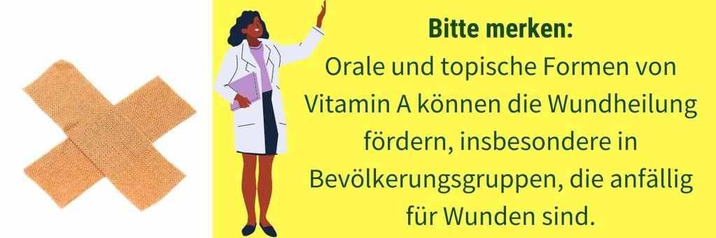 Vitamin A Mangel Wundheilung