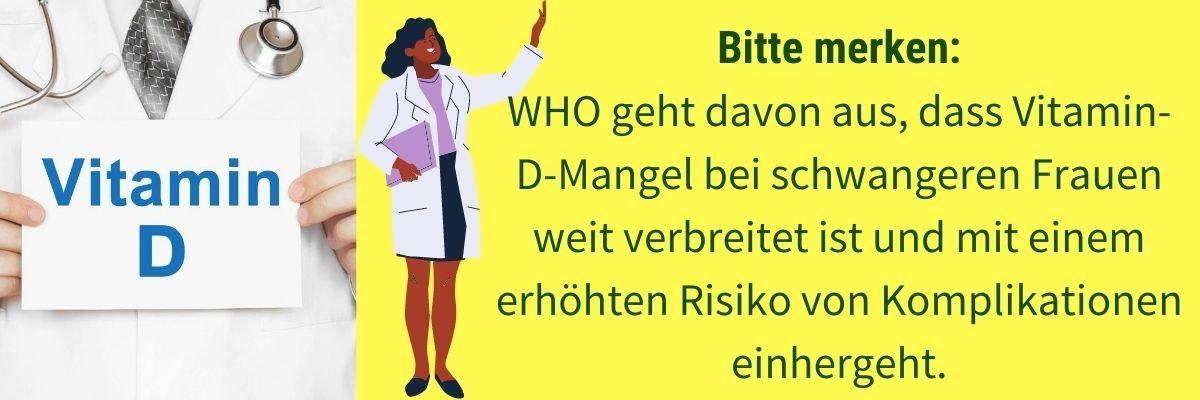 Vitamin D bei Schwangerschaft