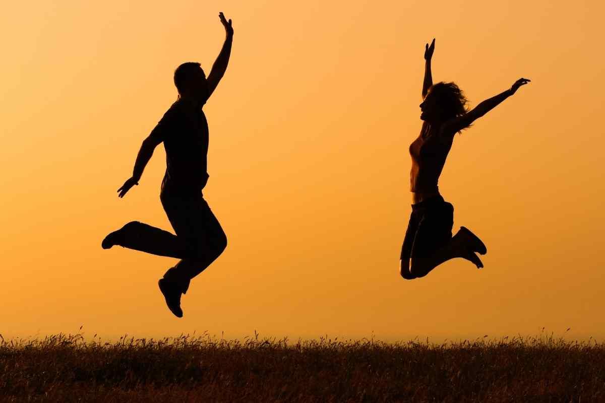 Glück mit Neurotransmitter