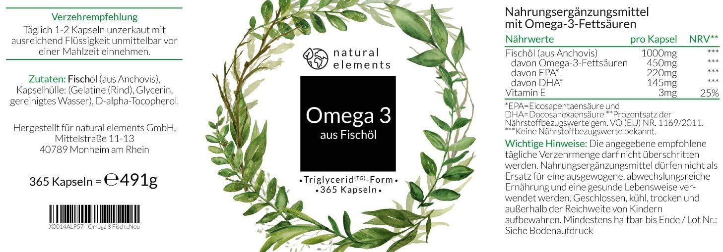 Omega-3 Test Inhaltsstoffe